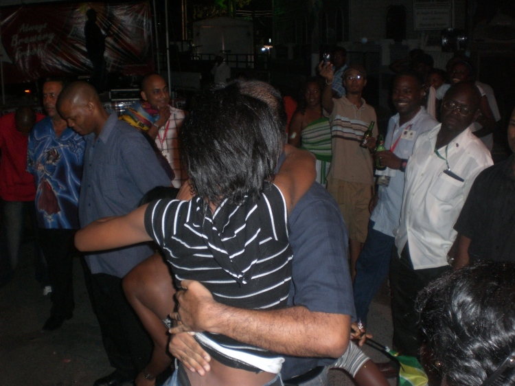 bharrat jagdeo dancing in the streets