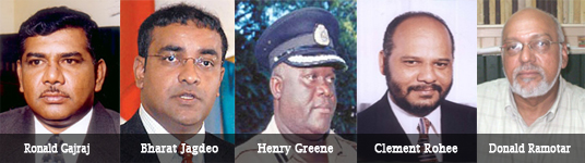 Five of the most dangerous criminals in Guyana. Gajraj & Jagdeo are cocaine dons & killers. Green & Rohee are confirmed raptists & torturers. Ramotar is their CEO