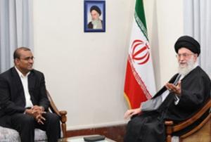 Leader of the Islamic Revolution Ayatollah Seyyed Ali Khamenei and Guyana's President Bharrat Jagdeo