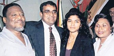sam hinds bharrat jagdeo varshnie and sams wife yvonne