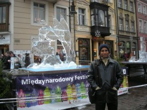 sham hanging out in poland, paid for by guyana tax payers