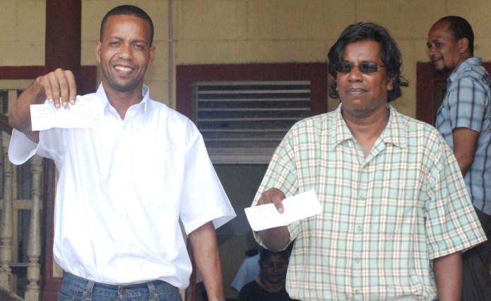 endangered species - two Guyana field negroes