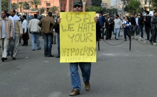 american hypocracy in egypt