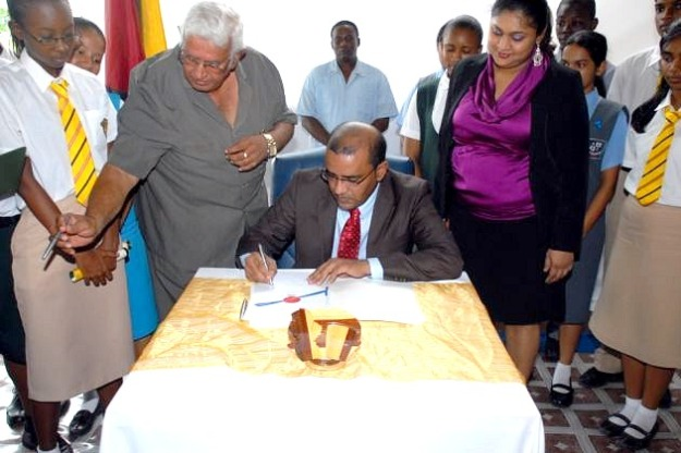 jagdeo signing the sexual offences bill in guyana
