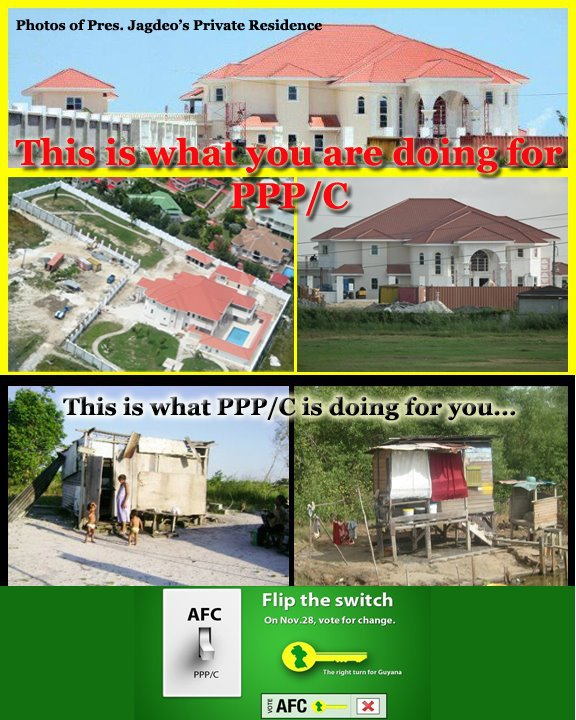 bharat jagdeo mansion built on cocaine money