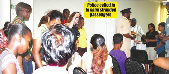 ez jet passengers storm guyana office