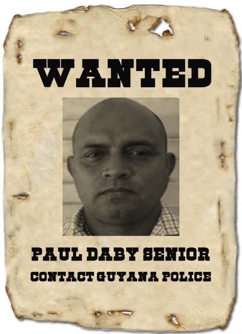 paul daby senior guyana police wanted bulletin