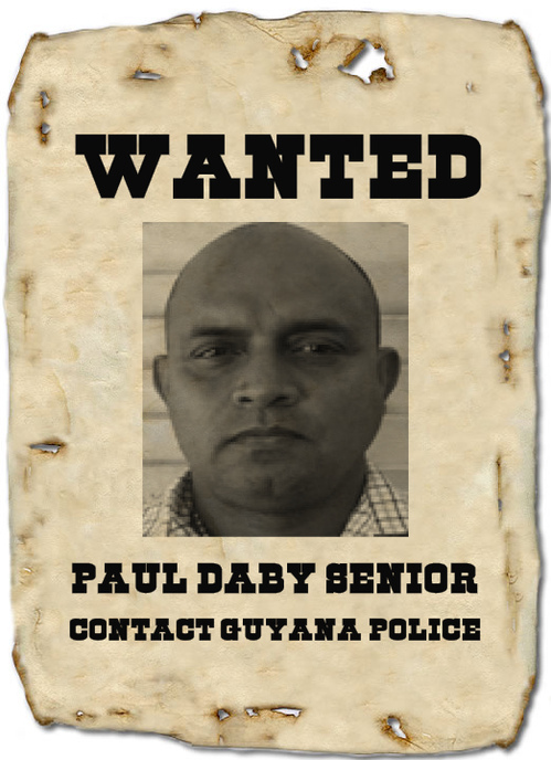 paul daby senior guyana police wanted bulletin