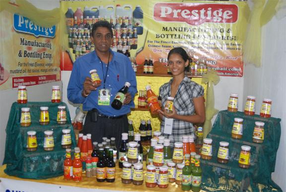 ramanand prashad & Prestige Manufacturing and Bottling Enterprise @ guyexpo 2012