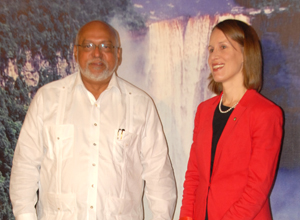 Uncorrupted - Nicole Giles, Canadian High Commissioner to Guyana (Uncorrupted High Commissioner is on the right …….just so we get that clear.)