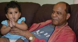 clement rohee and grand daughter