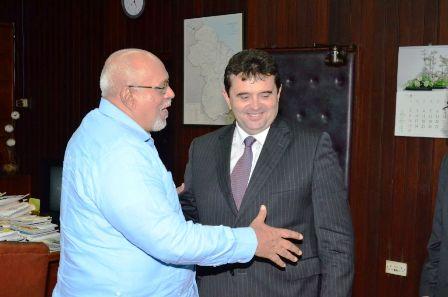 Jose de Anchieta Junior  visiting donald ramotar at state house . june 13 2013