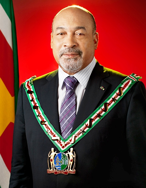The President of the Republic of Suriname Dési Bouterse De President van de Republiek Suriname Dési Bouterse