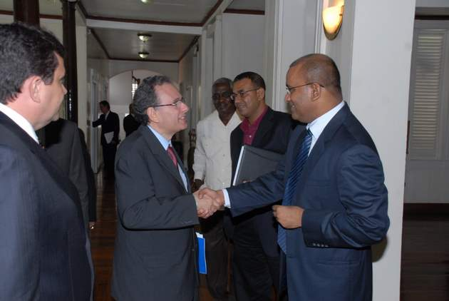 roraima governor and delegation visit bharrat jagdeo and robert persaud