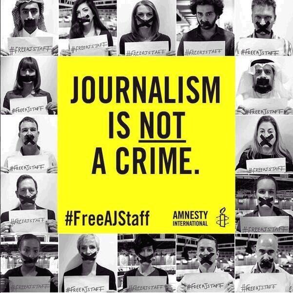 Journalism is not a crime. #FreeAJStaff