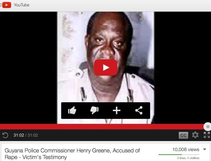 Flashback : Guyana Police Commissioner Henry Greene, Accused of Rape - Victim's Testimony