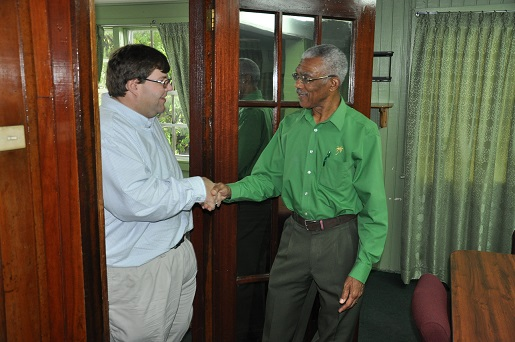 david granger and david hunt in guyana