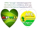 APNU stands by AFC on No- Confidence motion