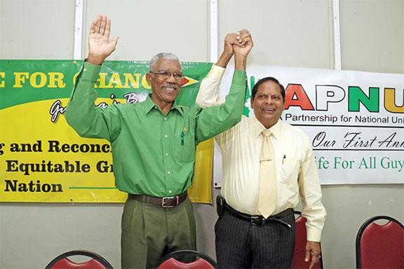 President David Granger & Prime Minister Moses Nagamootoo
