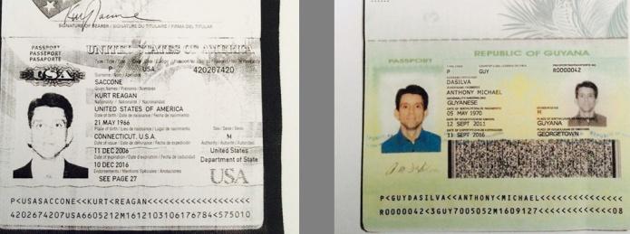 kurt saccone bogus guyana passpor and his us passport_edited